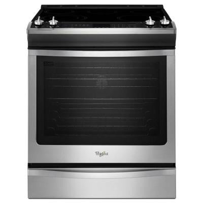 6.2 cu. ft. Slide-In Electric Range with Self-Cleaning Convection Oven in Stainless Steel