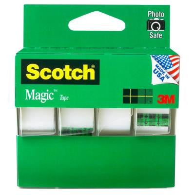 Scotch 3/4 in. x 8.33 yds. Magic Tapes Bulk (4-Pack)
