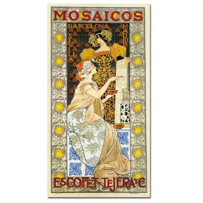 16 in. x 32 in. Mosaicos Escofet-Tejera Canvas Art
