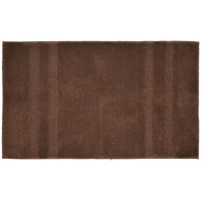 Majesty Cotton Chocolate 24 in. x 40 in. Washable Bathroom Accent Rug