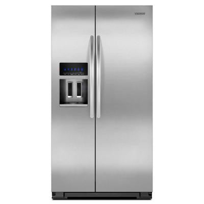 Architect Series II 25.6 cu. ft. Side by Side Refrigerator in Monochromatic Stainless Steel