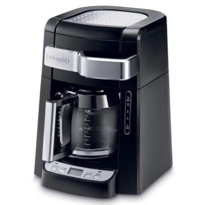 12-Cup Drip Coffee Maker with Complete Frontal Access in Black