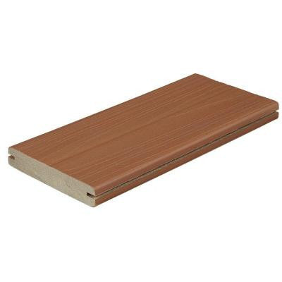 ProTect Advantage 1 in. x 5-1/4 in. x 12 ft. Western Cedar Grooved Edge Capped Composite Decking Board (10-Pack)