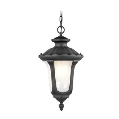 Providence 1-Light Outdoor Black Incandescent Pendant