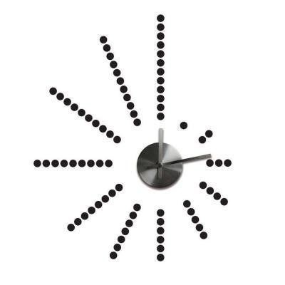 3.75 in. x 1.5 in. Morse Code Clock Peel and Stick Wall Decals