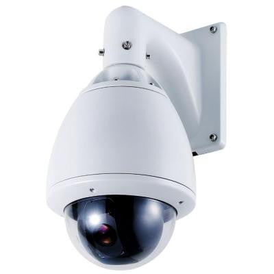 Wired 700TVL Indoor/Outdoor Day/Night PTZ Camera with 30X Optical Zoom - White