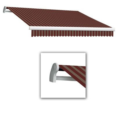 20 ft. Maui-AT Model Manual Retractable Awning (120 in. Projection) in Burgundy/Tan