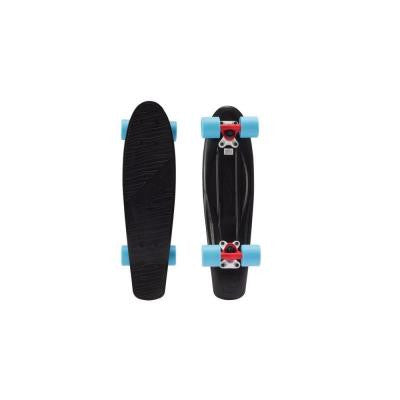 22.5 in. Classics Complete Skateboard in Black and Blue