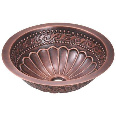 Tri-Mount Bathroom Sink in Copper