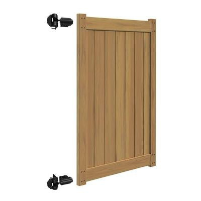 Washington 4 ft. x 6 ft. Cypress Vinyl Un-Assembled Fence Gate