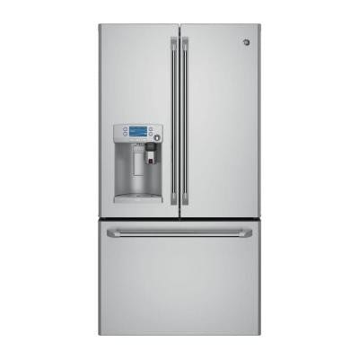 Cafe 36 in. 22.2 cu. ft. French Door Refrigerator with Keurig K-Cup in Stainless Steel, Counter Depth