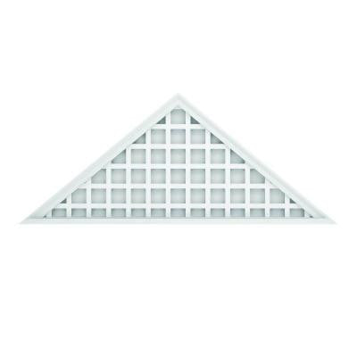 26-1/2 in. x 64 in. Polyurethane Decorative Triangle Louver Vent with Square Grid Pattern