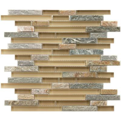 Tessera Piano Suffolk 11-3/4 in. x 11-3/4 in. x 8 mm Stone and Glass Mosaic Wall Tile