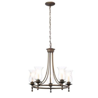 Grace 5-Light Rubbed-Bronze Chandelier