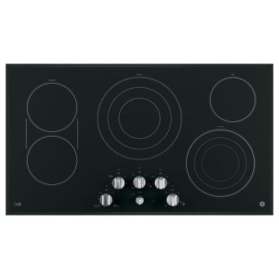 Cafe 36 in. Radiant Electric Cooktop in Stainless Steel with 5 Elements including Tri-Ring Power Boil