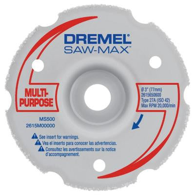 SawMax 3 in. Carbide Multi-Purpose Flush Cut Wheel