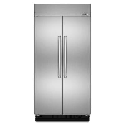 48 in. 30 cu. ft. Side by Side Refrigerator in Stainless Steel