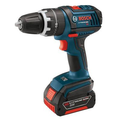 18-Volt Lithium-Ion Cordless Compact Tough Hammer Drill Driver with 2 HC 3.0Ah Battery and Charger