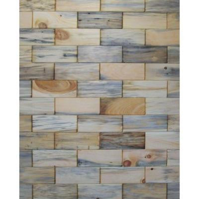 3 in. x 8 in. Prefinished Antique Blend North Eastern White Pine Wooden Wall Tile