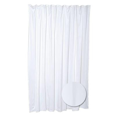 70 in. W x 72 in. H Lightweight Vinyl Shower Liner in White