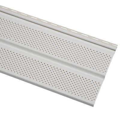 Economy Double 5 in. White Vented Vinyl Soffit