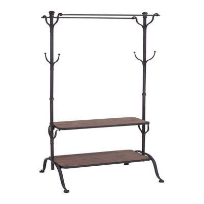 Adeline Black 69 in. H Clothes Rack