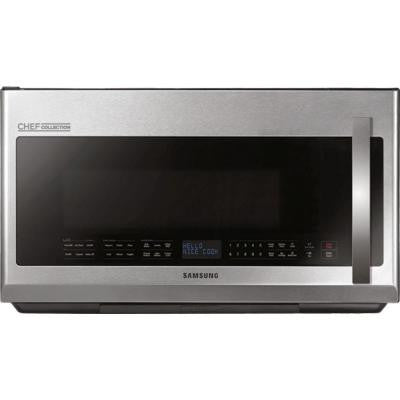 CHEF Collection 2.1 cu. ft. Over the Range Microwave in Stainless Steel with Sensor Cooking