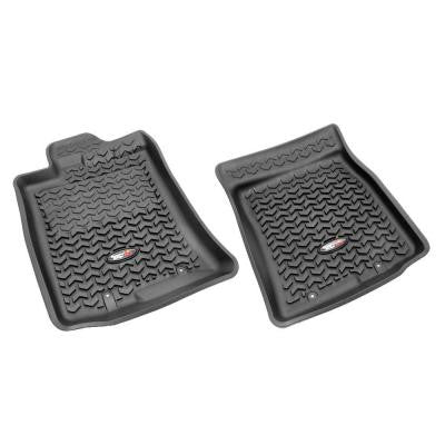 Floor Liner Front Pair Black 2007-2011 Toyota FJ Cruiser with Hook