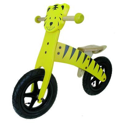 12 in. Wooden Tiger Balance/Running Bike
