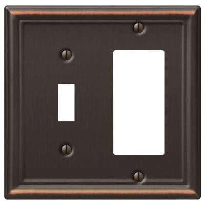 Chelsea 1 Toggle and 1 Decora Wall Plate - Aged Bronze