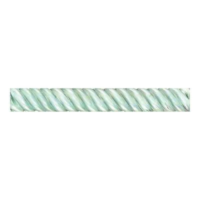 Cristallo Glass Aquamarine 1 in. x 8 in. Rope Glass Accent Wall Tile