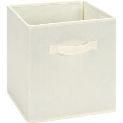10.5 in. x 11 in. x 10.5 in. 5.25 Gal. Natural Fabric Storage Bin