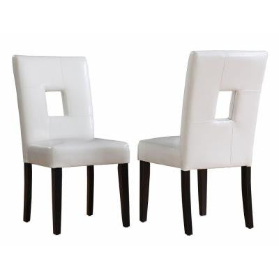 18 in. H White PU Side Chairs (Set of 2)