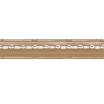 2-1/2 in. x 4 ft. Satin Brass Nail-up/Direct Application Tin Ceiling Cornice (6-Pack)