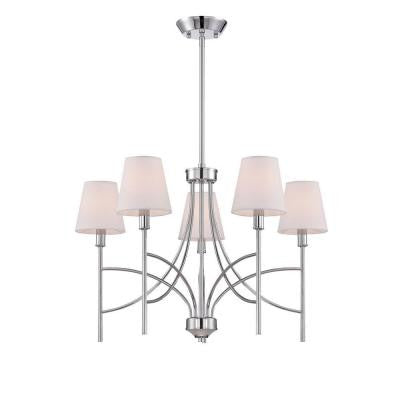 Millau Collection 5-Light Chrome Chandelier
