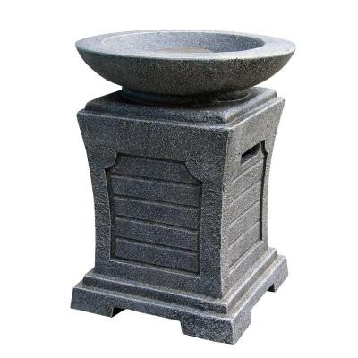 Seneca 15 in. Envirostone Propane Gas Fire Pit in Greystone Finish