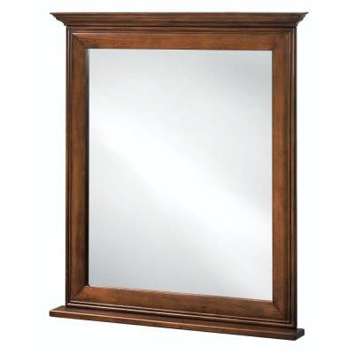 La Grange 34 in. L x 30 in. W Framed Vanity Wall Mirror in Glazed Sienna