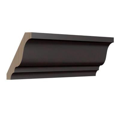 1.5 in. x 96 in. Crown Molding in Coffee
