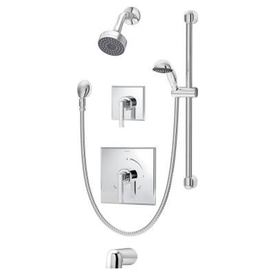 Duro 2-Handle Tub and Shower Faucet in Chrome
