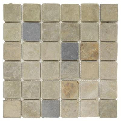 Sequoia 12 in. x 12 in. x 8 mm Slate Mosaic Tile