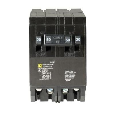 Homeline 2-20 Amp Single-Pole 1-50 Amp Two-Pole Quad Tandem Circuit Breaker