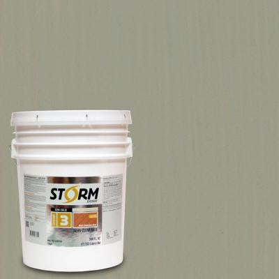 5 gal. Parsons Gray Exterior Semi-Solid Dual Dispersion Wood Finish