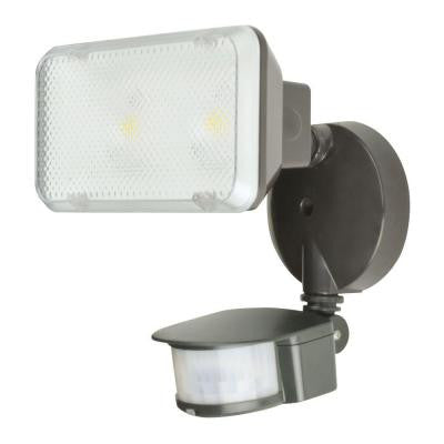 180-Degree Motion Sensing Outdoor Black LED Flood Light