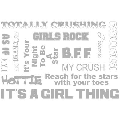 54 in. x 22 in. It's A Girl Thing Wall Decal