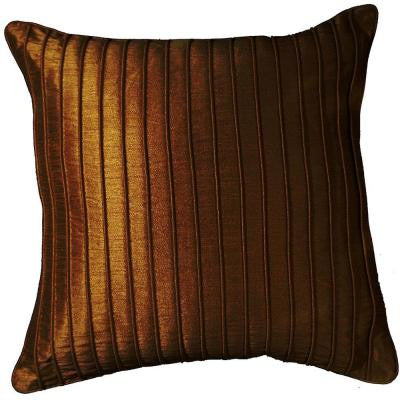 Contemporary Marlene Chocolate 18 in. x 18 in. Square Decorative Accent Pillow (2-Pack)