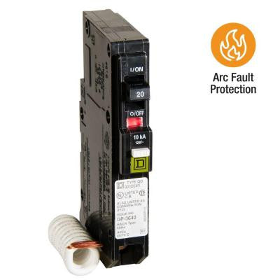 QO 20 Amp Single-Pole CAFCI Circuit Breaker
