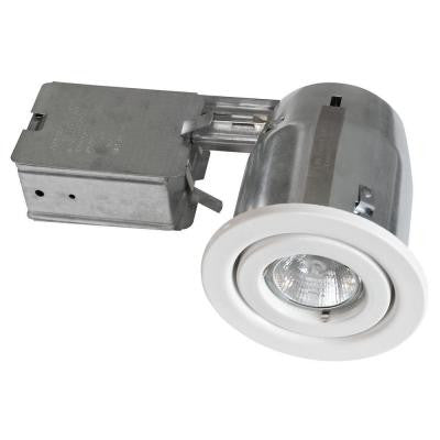 300 Series 4 in. White Recessed Halogen Lighting Kit