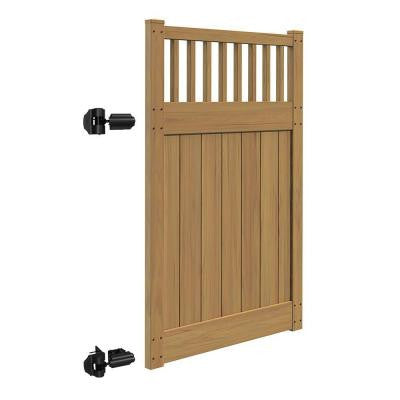 Canyon 4 ft. x 6 ft. Cypress Vinyl Un-Assembled Fence Gate