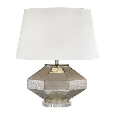 Angular 23 in. Antique Mercury Table Lamp with Shade