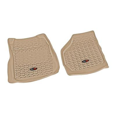 Floor Liner Front Pair Tan 1999-2007 Ford F250/350 Expt Man